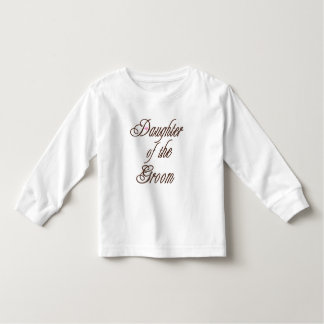 Daughter of Groom Classy Browns Toddler T-shirt