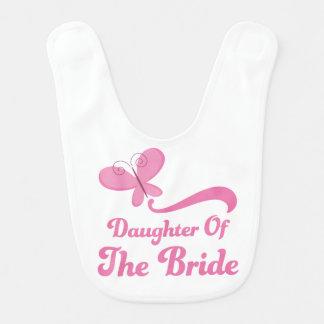 Daughter of the Bride Baby Bib