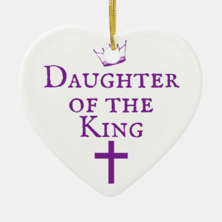 Daughter of the King design Ceramic Heart Ornament