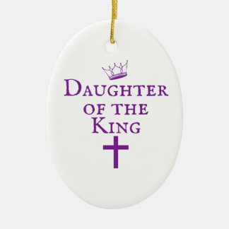 Daughter of the King design Ceramic Oval Ornament