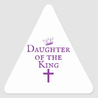 Daughter of the King design Triangle Sticker