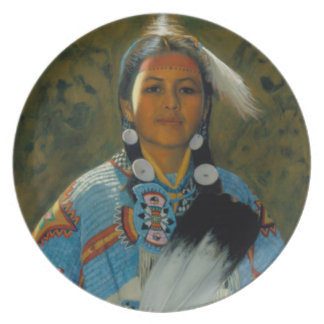 Daughter of White Eagle Plate