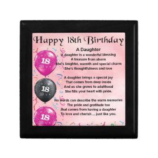 Daughter Poem - 18th Birthday Gift Box