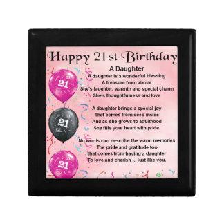 Daughter Poem 21st Birthday Gift Box