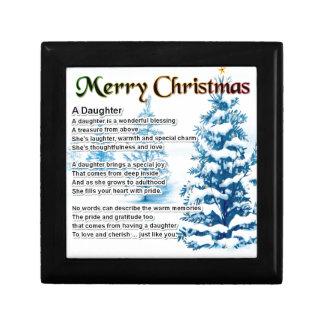 Daughter Poem - Christmas Design Gift Box