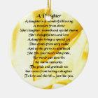 Daughter Poem - Yellow Silk Ceramic Ornament