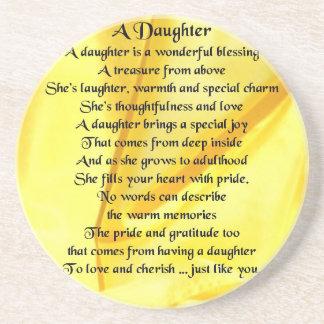 Daughter Poem - Yellow Silk Drink Coasters