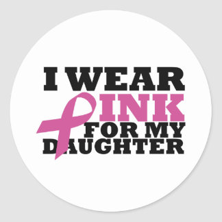 daughter round sticker