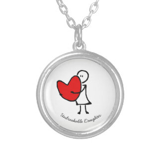 Daughter Silver Plated Necklace