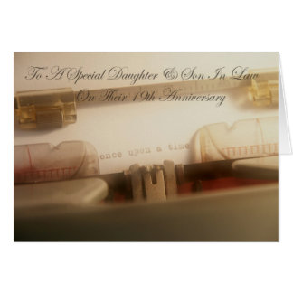 Daughter & Son In Law 19th Anniversary Card