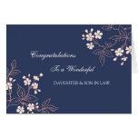 Daughter & Son In Law Wedding Congratulations Blue Card