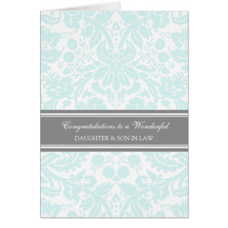 Daughter & Son In Law Wedding Congratulations Sky Card