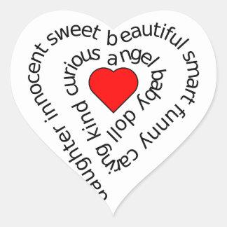 Daughter Heart Sticker