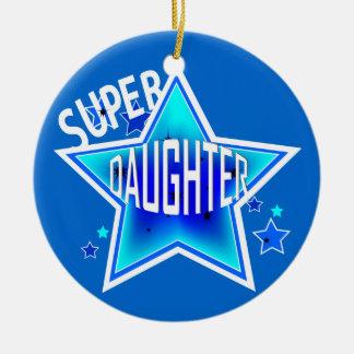 Daughter Super Star Blue Christmas Ornament