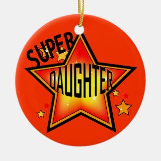 Daughter Super Star Christmas Ornament
