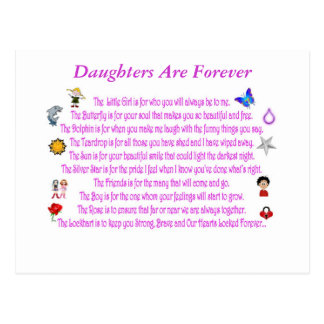 Daughters Are Forever Post Card