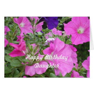 Daughter's Birthday Petunias Card