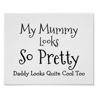 Daughters Cute Funny Wedding Script Sign Poster