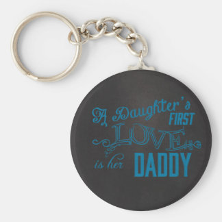 daughters first love her dad keychain