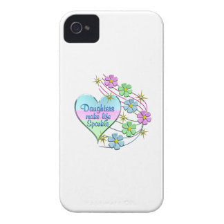 Daughters Make Life Sparkle iPhone 4 Cases