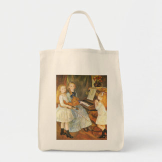 Daughters of Catulle Mendes by Pierre Renoir Grocery Tote Bag