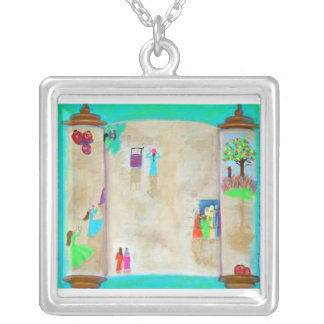 Daughters of Israel Silver Plated Necklace