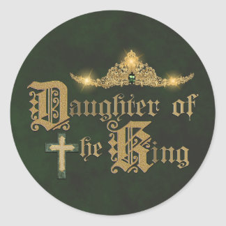 Daughters of The King Round Sticker