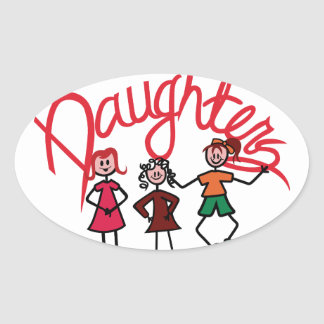 Daughters Oval Sticker