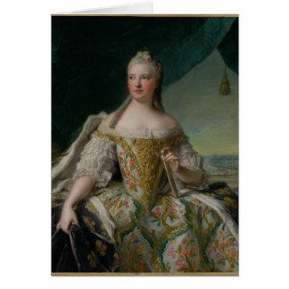 Dauphine Marie-Josephe de Saxe  1751 Card