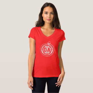 Dave Ahern Annual Holiday Cup Tee Women's Red V