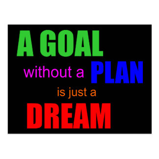 dave ramsey quote a goal without a plan postcard