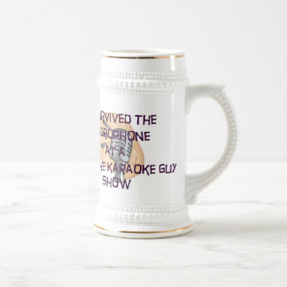 "Dave The Karaoke Guy ""I Survived"" Beer Stein"