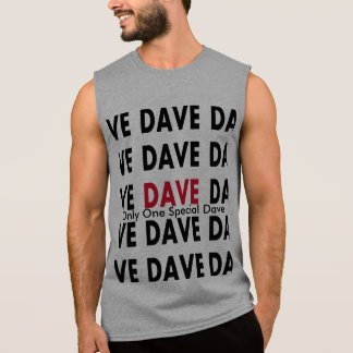 Dave with Text Template Sleeveless Shirt