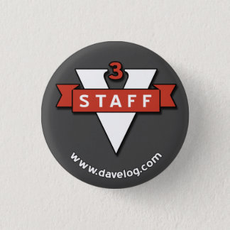 davelog staff badge - small 1 inch round button
