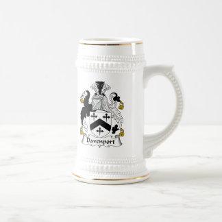 Davenport Family Crest Beer Stein