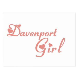 Davenport Girl tee shirts Postcard