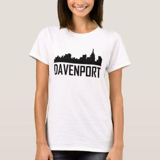 Davenport Iowa City Skyline T-Shirt