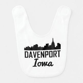 Davenport Iowa Skyline Bib