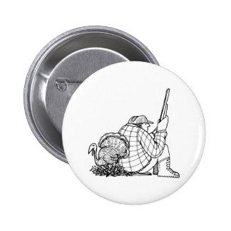 davholle hunter turkey 2 inch round button