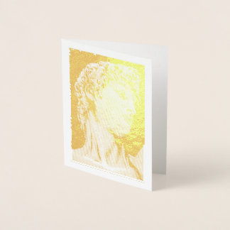 David, after Michelangelo ... gold foil note card