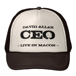 David Allan CEO Trucker Hat