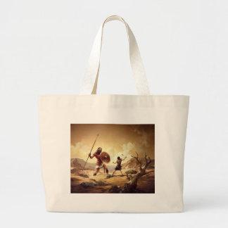 David and Goliath Large Tote Bag