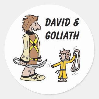 David and Goliath Stickers