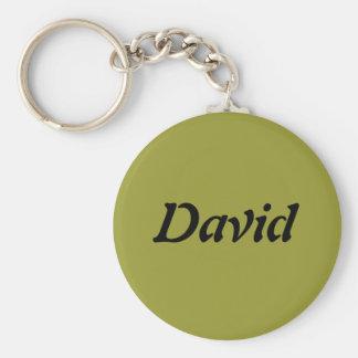David Basic Round Button Keychain