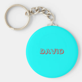 David Basic Round Button Keychain