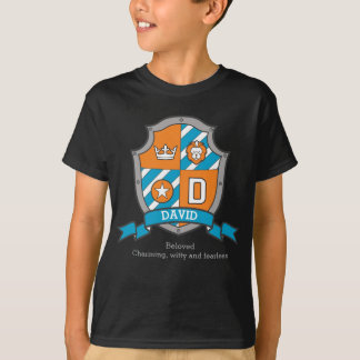 David boys D name & meaning knights shield T-Shirt