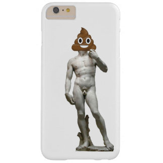 David by Michalangelo with Happy Poop Barely There iPhone 6 Plus Case