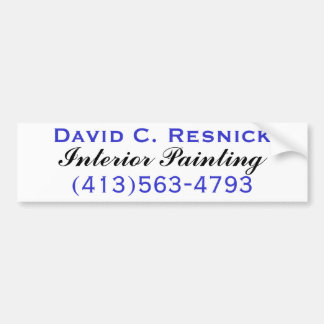 David C. Resnick, Interior Painting Bumper Sticker