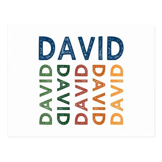 David Cute Colourful Postcard