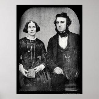 David & Ellen Bell Daguerreotype 1849 Poster
